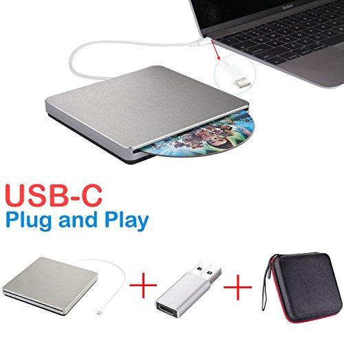 externe dvd / cd - laufwerk usb-c superdrive usb - dvd - / cd - brenner fahren, dvd / cd - rw - laufwerk für macbook pro / air / laptop / desktop für mac osx windows10 / 7 / 8