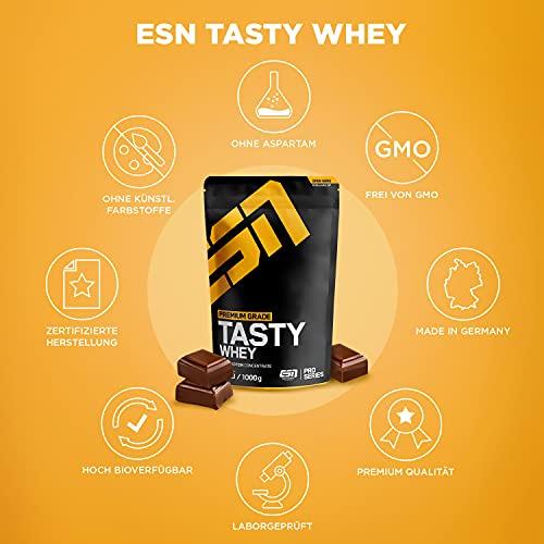 ESN Tasty Whey, Pro Series, Chocolate, 1er Pack (1 x 1000g Beutel) - 5