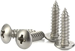 New Package of 300 Stainless Steel 10 x 1 Pancake Head Type A Sheet Metal Screw Set #MO2523-P Warranity by Pr-Mch pcs