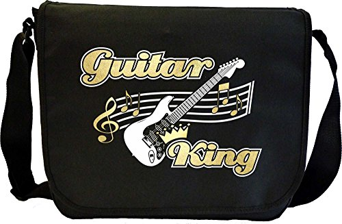 MusicaliTee Acoustic Guitar King - Sheet Music Document Bag Musik Notentasche