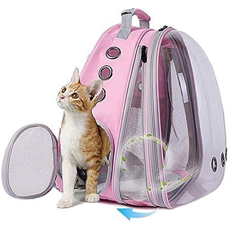 Large Mesh Transport Bag Foldable Transparent Good Ventilation imyth Pet Dogs Cats Carrier Backpack Black Stable Rucksack Travel Carry Bag with Wheels Trolley