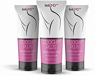 IntiMD COOCHY PLUS (3 Pack) Intimate Shave Cream Rash-Free With MOISTURIZING+ 8oz