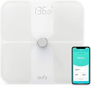 Eufy T9140021 Smart Fitness Scale Premium Design White 30Cm X 30Cm Tiles