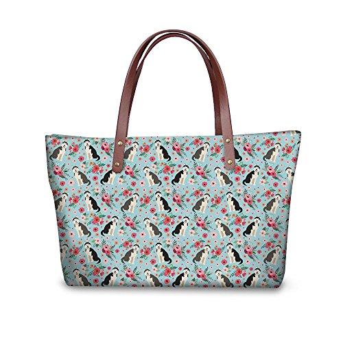 Showudesigns Hübsche Handtasche mit Katzen- und Schmetterlingsmotiv, für Damen, Husky (Mehrfarbig) - Z-CA5421AL