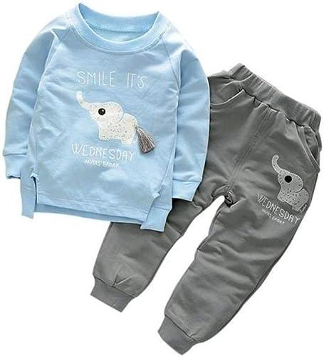 Bold N Elegant Sky Blue n Grey Cute Elephant Tail 2pc Baby Boy Girl Clothing Set Wednesday Smile Ganesha Full Length ...