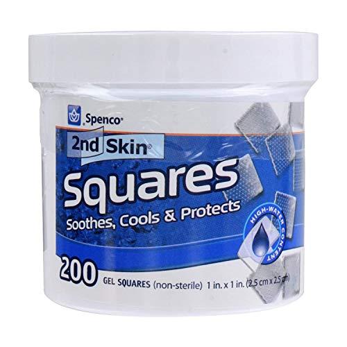 Spenco 2nd Skin 200 Gel-Quadrate, unsteril, Blau, 2,5 cm