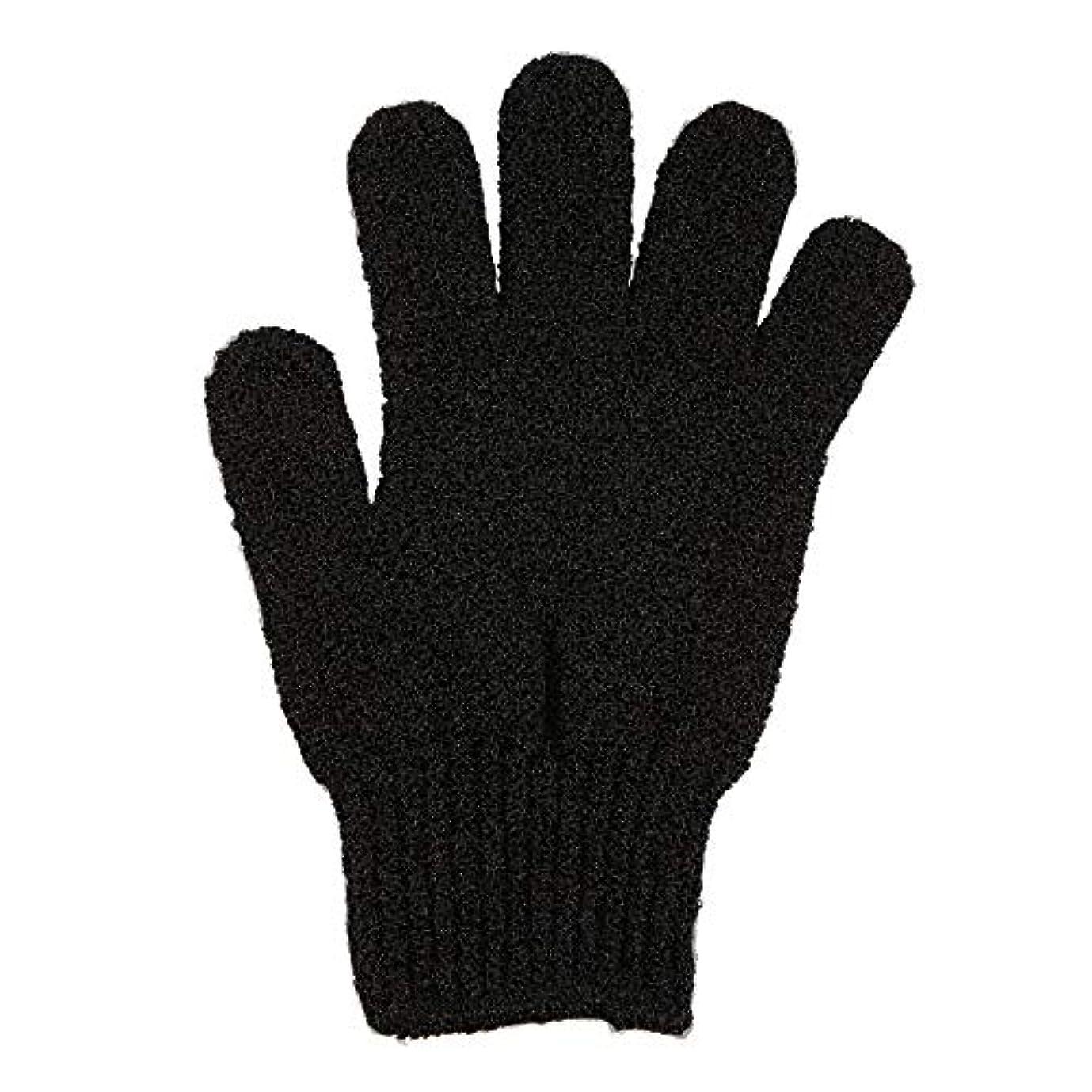 反対したアクション延ばす角質除去手袋フルボディスクラブデッドセルソフトスキン血液循環シャワーバススパ剥離アクセサリー - ブラック