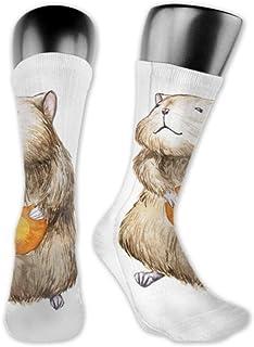 JONINOT, 2 paquetes de calcetines deportivos ligeros y cómodos de 40CM, novedad, divertidas, lindas, medias largas para hámster