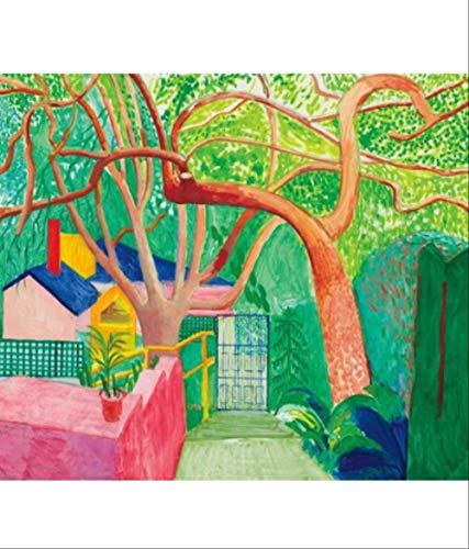 DPFRY Leinwandbild Klassische Tapete David Hockney Print Wohnzimmer Dekoration Kunstwerk Moderne Wandkunst Poster Replik Kc5T 40X60 cm Ohne Rahmen