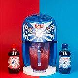 Slush Puppie Slushie-Maschinen-Set, Blauer Himbeersirup, roter Kirschsirup, 4 Pappbecher und Strohhalme