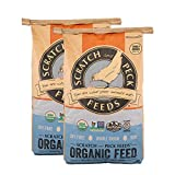 Scratch and Peck Feeds - Naturally Free Organic Layer Feed for Chickens and Ducks - Non-GMO Project Verified, Soy Free and Corn Free - 25-lbs - 2-Pack
