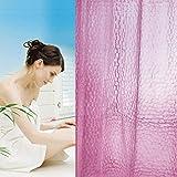 Duschvorhang 3D Wasserwürfel, Duschvorhang Anti-Schimmel, EVA Wasserdicht,Anti-Bakteriel Badvorhänge,Umweltfre&lich Waschbar, Bad Vorhang für Badezimmer Badewanne,Halb-transparent/Pink,A-180x180cm