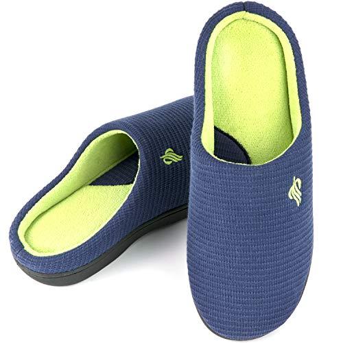 Zapatillas de casa de Espuma viscoelástica para Hombre,EU42-43,Armada
