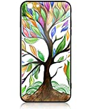 HUNTHAWK iPhone 6s Case iPhone 6 Case Anti-Drop TPU and Hard PC Scratch-Proof Tempered Glass Protector Cover Fit iPhone 6s Cases for Girls Boys (Life Tree)