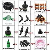 25M Inicio Jardín automático Micro Pin nebulización de riego por aspersión Kits pulverizador 32 pies 1/4 '' Invernadero Ajustable Manguera (Color : AB499C)