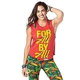 Zumba Camiseta de Entrenamiento con Estampado de Moda para Hombre y Mujer X-Pequeña - Pequeño Viva la Rojo