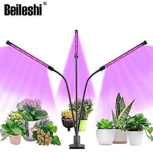 Beileshi Grow Light 3 LED Plant Lampen Volledige Spectrum Dimbaar met Timer 360°Verstelbare Zwanenhals USB 3 Modes Timer voor Indoor Succulenten Hydroponic Veg