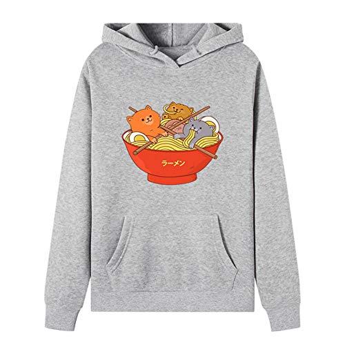 Funny Cat Cartoon Hoodies Winter Style Hip Hop Casual Sweatshirts Streetwear Pull Blouse