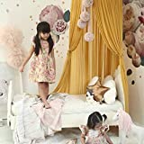 jsadfojas Moskitonetz Baby Baldachin Betthimmel Kinder Bett Hängende Moskiton für Reise und Zuhause Zeit Höhe 240 cm (240 x 260 cm, Ingwer gelb1) - 2
