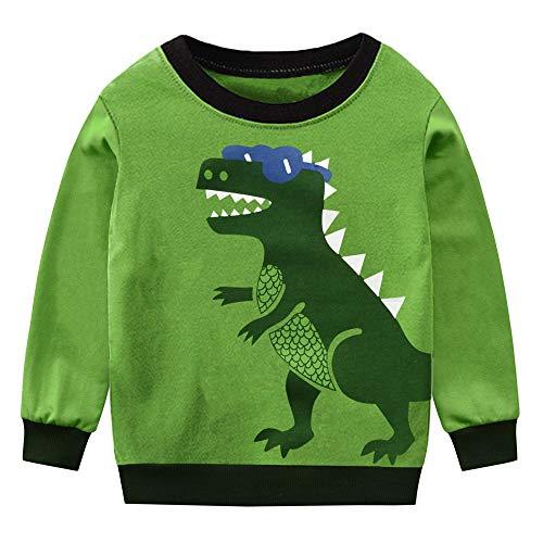 Little Hand Kinder Baumwollpullover Jungen Sweatshirt Karikatur Dinosaurier Langarm Rundhals Pullover 110 /HerstellerGröße: 120