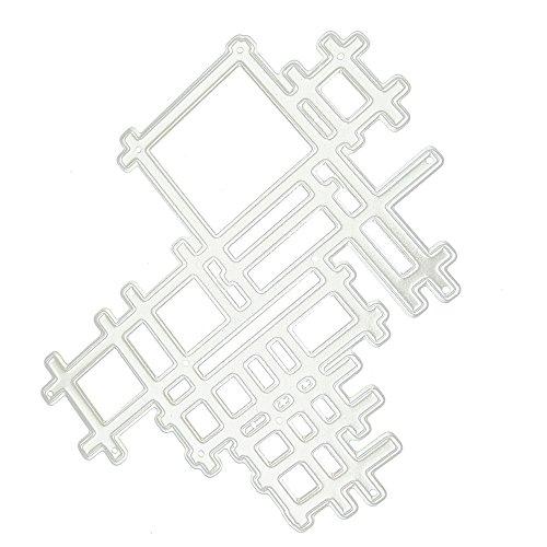 OIKAY Stanzschablone Prägeschablonen Embossing Machine Scrapbooking Schablonen Stanzformen auf Sizzix Big Shot/Cuttlebug/und andere Stanzmaschine anwenden 0130@063