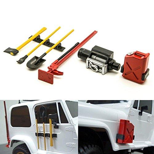 ZuoLan 1/10 Echelle RC Voiture Accessoires décoratifs Outils pour 1:10 RC4WD,SCX10,AX10 RC Crawler / Truck
