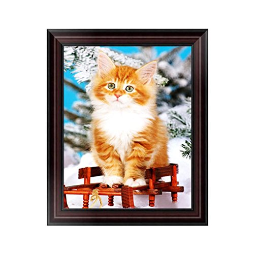 NDJK Animal Cat 5D Diamond Embroidery Painting Cross Stitch DIY Craft Home Decoration