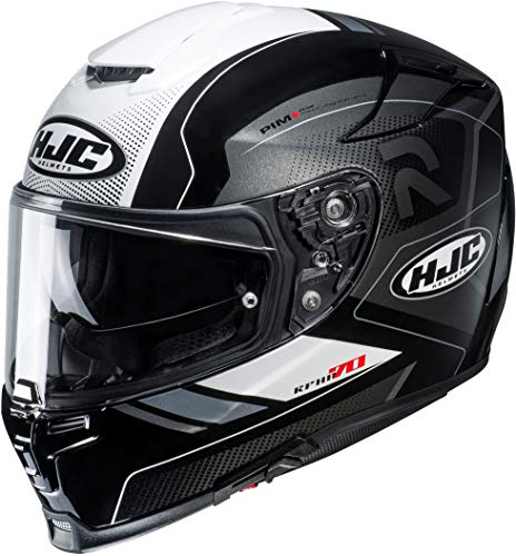 Casco moto HJC RPHA 70 COPTIC MC5, Nero/Bianco, M