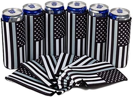 QualityPerfection 6 Slim Can Cooler Sleeves Beer Energy Drink Blank Skinny 12 oz Neoprene Coolie product image