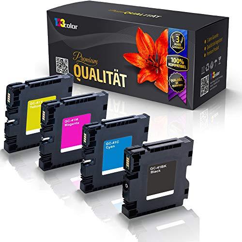 4x Alternative Druckerpatronen für Ricoh Aficio SG 2100 SG 2100 N SG 3100 snw SG 3110 DN SG 3110 DNw SG 3110 n SG 3110 sfnw SG 7100 DN SG K 3100 DN BK C M Y GC 41 GC41 Color Pro Serie