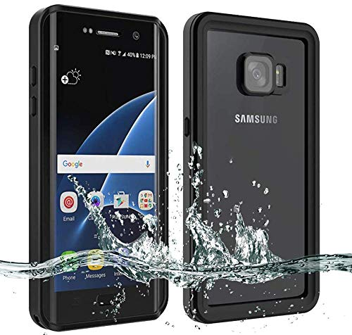 BESINPO Waterproof Galaxy S7 Edge Case [NOT for S7], Underwater 6.6ft 30 Minutes Full Body Protective Cover for Samsung Galaxy S7 Edge Only(5.5inch,Black)