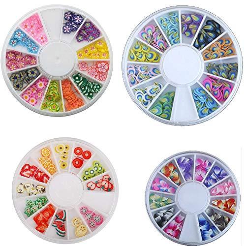 PMSMT 120 Stück/Los 3D Nail Art Dekoration Polymer Clay Scheiben Nail Art Decals Aufkleber Tipps Mädchen Spielzeug Geschenke neu