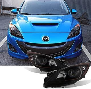 For [Halogen Type - Black Smoke] 2010 2011 2012 2013 Mazda 3 Mazda3 Projector Headlights Assembly Pair