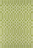 Momeni Rugs , Baja Collection Contemporary Indoor & Outdoor Area Rug, Easy to Clean, UV protected & Fade Resistant, 3'11' x 5'7', Green