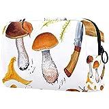 Neceser de viaje, bolsa de viaje impermeable, bolsa de aseo para mujeres y niñas, setas de dibujos animados 18,5 x 7,6 x 13 cm