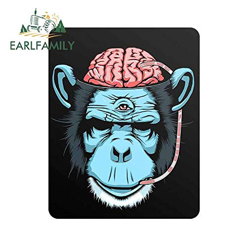 FAFPAY Car sticker 13cm x 10.2cm for Gorilla Brain Car Decal Waterproof Scratch-proof Stickers Fashion Decals Suitable for VAN RV SUV
