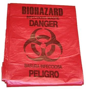 First Voice BHAZ01 5 gallon Red Biohazard Bag  Pack of 10