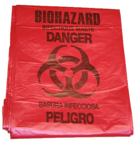 First Voice BHAZ01 5 gallon Red Biohazard Bag (Pack of 10)