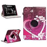 NAmobile Schutzhülle kompatibel für TrekStor Primetab P10 Tablet Hülle Tasche Case Cover 360 Drehbar, Farben:Motiv 2