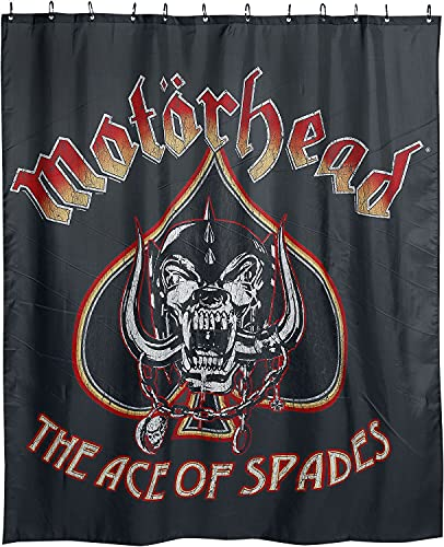 Motörhead Ace of Spades Unisex Duschvorhang Standard 100% Polyester Band-Merch, Bands