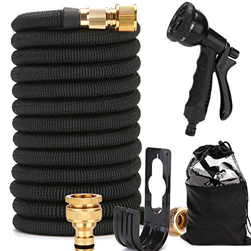 Ancocs Flexibler gartenschlauch 7,5m 25FT mit 8 Funktionen und Sprühpistole, dehnbarer und knickfester Flexischlauch Wasserschlauch für Gartenarbeit