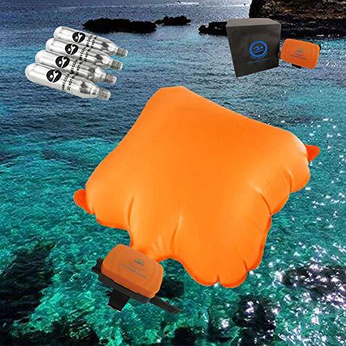 SH Unisex Anti-Drowning Bracelet Swimming Safety Device Lifesaving Rescue Waistband for Adults and Children Bracelet (Black-Orange)