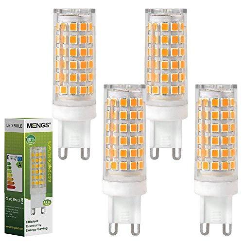 MENGS Pazzi da 4 Lampadina LED G9 12W (equivalenti a 95W) Lampadine a risparmio energetico Bianco Caldo 3000K, AC 220-240V, 720LM