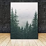 yaoxingfu Sin Marco Picture Canvas ng Wall Art Poster Print Mountain and Tree ng Decorate for Living Room on Wall Picture Home sin Marco 30x45cm