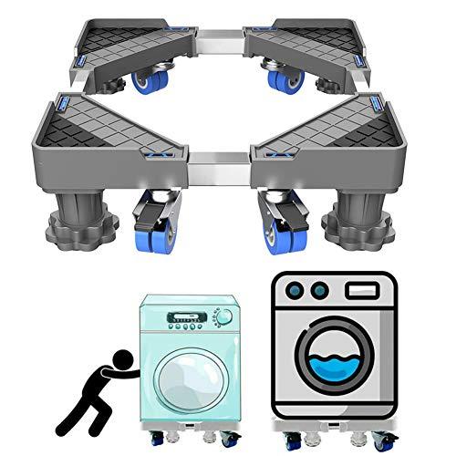 MIAOLEIE Frigorífico Multifuncional Frigorífico Base De Lavandería Lavadora Ajustable Base Soporte De Base Frigorífico Refrigerador De Montaje En Servicio Pesado