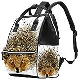 Bennigiry - Mochila para pañales con textura de acuarela, gran capacidad, bolsa de viaje, bolsa organizadora de pañales, multifunción, para mamá