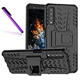 COTDINFORCA Case for A7 2018 (A750) Tyre Pattern Design Heavy Duty Tough Protection Case with Kickstand Shock Absorbing Detachable 2 in 1 Case Cover for Samsung Galaxy A7 (2018) SM-A750. Hyun Black