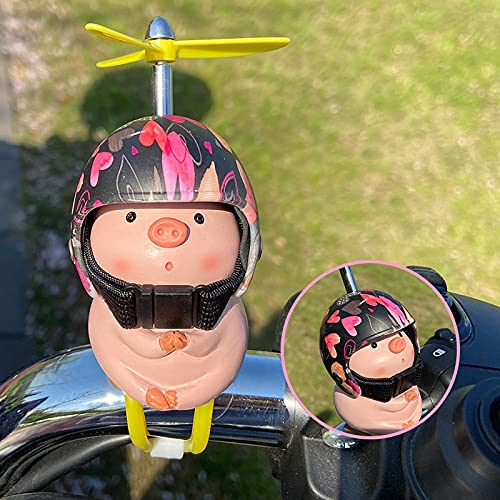Decoraciones para autos Piggy, lindas decoraciones para cascos de bicicleta eléctrica para...