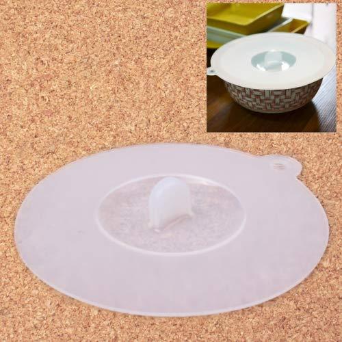Uso polivalente Tapa de la Taza hermética de Silicona Creativa Tapa del tazón (diámetro: 10 cm) (Blanco), Material: Silicona