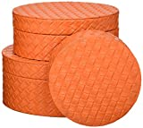 Orange Keepsake Box (Set of 3) 7.12x7.12x3'
